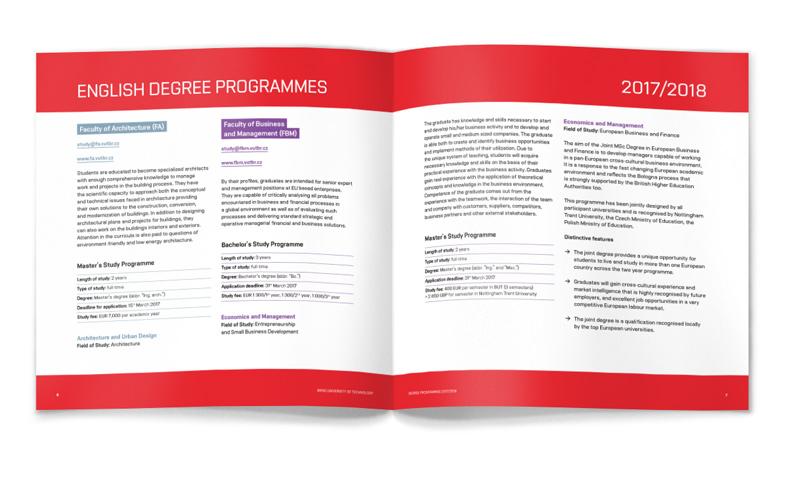 Ukázka grafického návrhu brožury