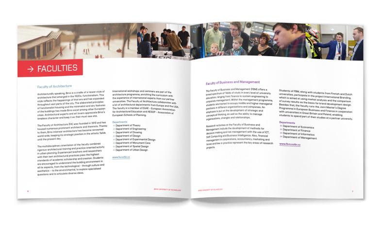 Grafický návrh prezentační brožury
